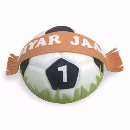 Afbeeldingen van Themataart Voetbal bol taart