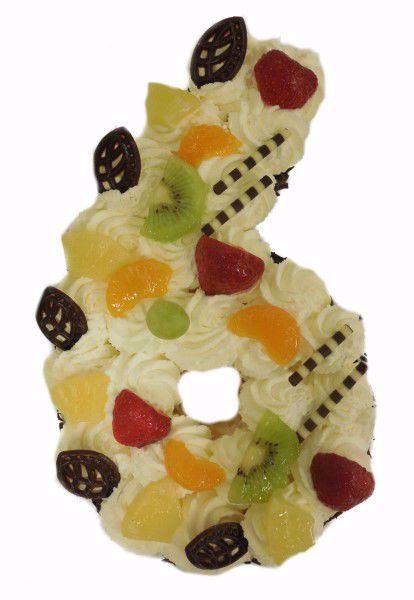 Afbeelding van Cijfer taart 6