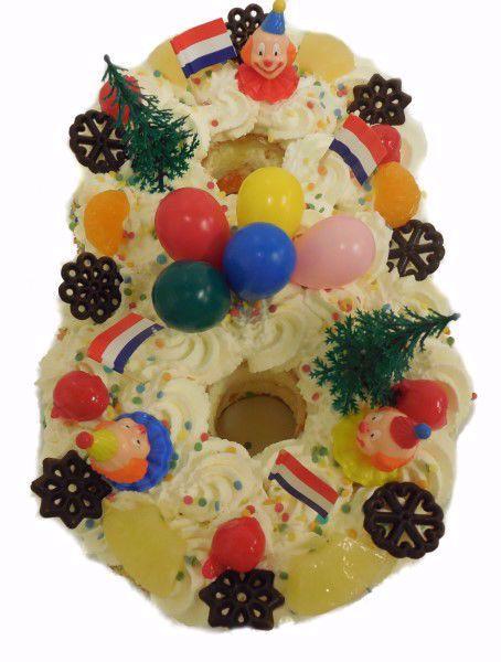 Afbeelding van Cijfer taart 8