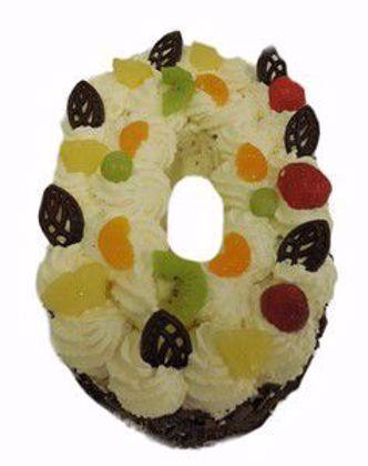 Afbeeldingen van Cijfer taart 0